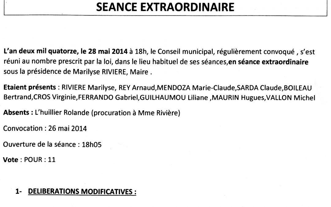 Compte rendu conseil municipal 2014-05-28
