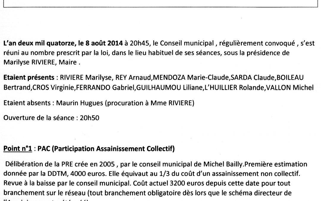 Compte rendu conseil municipal 2014-08-08