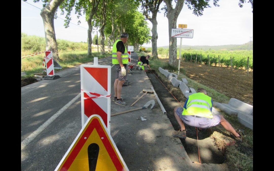 Des travaux de sécurité entrepris dans le village et sur la départementale.